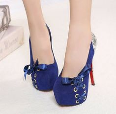 Snakeskin Jointing Low Cut Bowknot High Heels PU Women Shoes by Mancienne SKU: P060T0AVCMSX7M Price: US $11.62