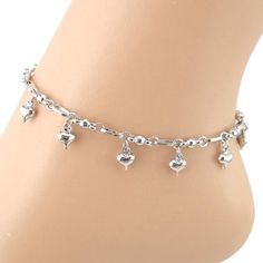 SusenstoneSolid Heart Women Chain Anklet Bracelet Barefoot Sandal Beach Foot Jewelry. Susenstone(TM) is a registered trademark and the only authorized seller of susenstone branded products. Material: Alloy Color: Silver Length: 22+5cm. Nice accessories to integrate jewelry case for girls and collectors. Catch this beautiful accessories for you. Match with suitable apparel for different occasion. Special design and unique structure, a popular item.