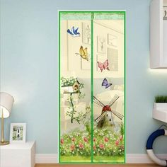 Mesh Door Magic Curtain Magnetic Snap Fly Bug Insect Mosquito Screen Net GuardsF