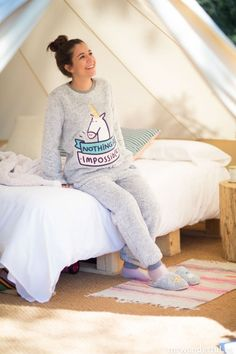 "Colección de pijamas 2015 Oysho + Mr.Wonderful. Modelo ""Nothing is impossible"" #mrwonderfulshop #oysho #pyjamas #2015 #winter"