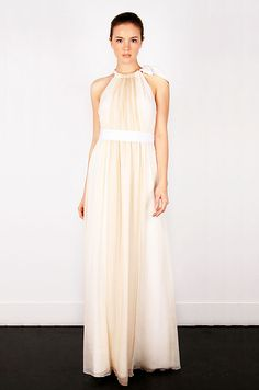 fashion-conscious bride: ombre chic gown  //ombre chiffon Eleanor halter gown by Thread