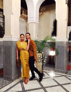 Welcome to Morocco: The A-list couple enjoyed some alone time during their family holiday in Marrakech