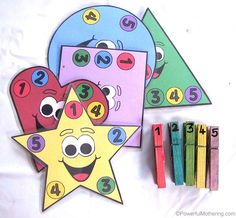 Shapes, Counting and Colours Busy Bag (with Printable)