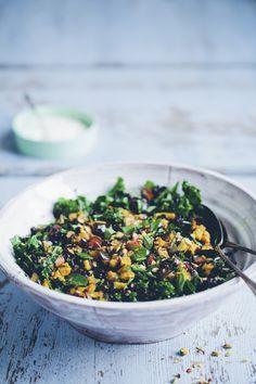 Black Rice, Kale & Aubergine Pilaf | Jessica Sepel