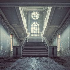 Quattro by Gina Soden. Realistic Photography of an abandoned building, asylum, in Italy. Limited Edition Print. £1,800. A statement piece for the living room or an office space.