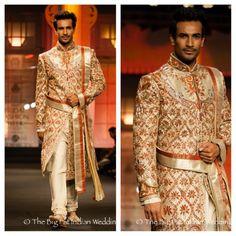 A very regal sherwani - the belt brings it together -Anjalee Arjun Kapoor