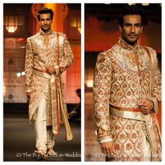 A very regal sherwani - the belt brings it together -Anjalee Arjun Kapoor