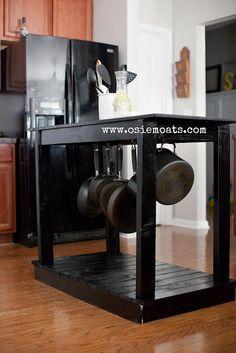 Osie Moats DIY kitchen island tutorial. www.osiemoats.com