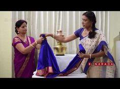 Simple Saree draping for Varamahalakshmi by Mamatha