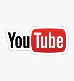 Youtube Logo Pegatina
