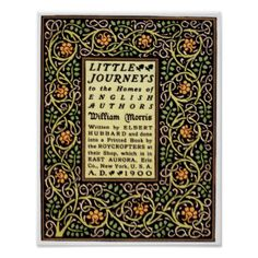 arts and crafts movement | Arts And Crafts movement 1900 book cover design Poster