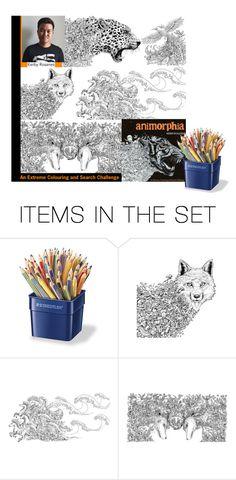 """Animorphia (Colouring book for adults)"" by hangar-knjiga ❤ liked on Polyvore featuring art, books, artexpression, colouringbook and animorphia"