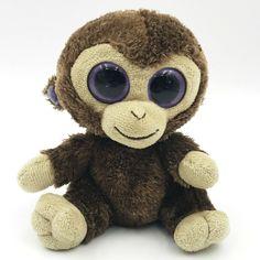 Ty Beanie Boos COCONUT Monkey 6 in Plush Stuffed Animal 2013 Brown #Ty