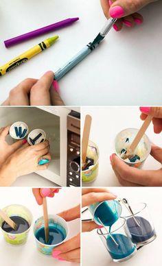 como fazer velas com lápis de cera velhos