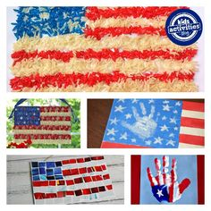 These American flag crafts are perfect for the fourth of july!