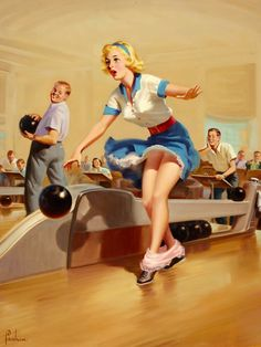 Consider, that Busty girl bowling balls think, that
