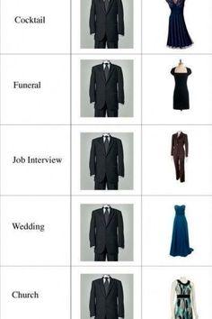 Appropriate dress attire