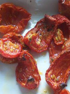 Lekker zongedroogde tomaten recept in de oven, klaar in 2 uur.