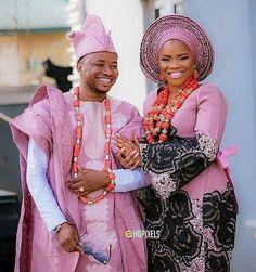 Yoruba Traditional Wedding Attire Styles [Updated May African Wedding Attire, African Attire, African Wear, African Dress, Nigerian Traditional Wedding, Traditional Wedding Attire, Traditional Outfits, Nigerian Bride, Nigerian Weddings