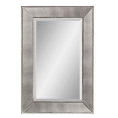 powder room | Beaded Frame Mirror | shades of light $275