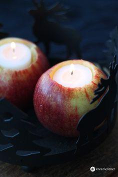 DIY | Apfel Kerzen | Tischdeko mit Äpfeln selbermachen