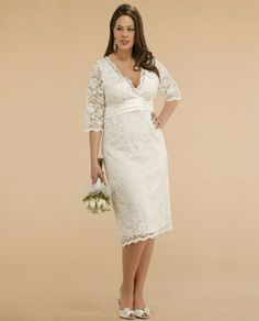 *** In a different color than white*** Large Size Woman White Bridesmaid Dresses With Sleeves #BridesMaidDress #Love