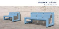 Panchine per luoghi pubblici disegnate da Mario Botta per Benkert Bänke