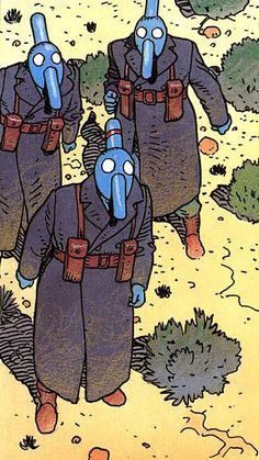 Moebius - Stel (1994) - I love those masked guys!