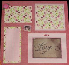 Love and Romance two-page scrapbook layout - great for wedding, prom, engagement, anniversary, etc.