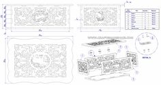 Scroll saw box plan - Assembly drawing, exploded view, parts list