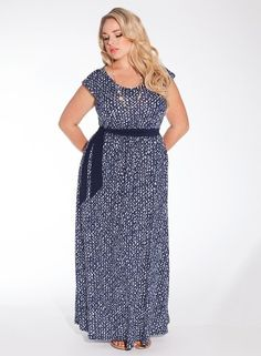 IGIGI - Tiana Maxi Dress in Hampton Royal - love this blue print dress