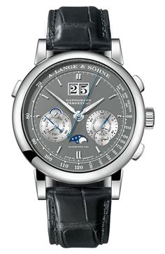 "A. Lange & Söhne Datograph Perpetual Watch New For SIHH 2015 - by Ariel Adams - see Lange's latest creation as #SIHHABTW kicks off - on aBlogtoWatch.com ""The A. Lange & Söhne Datograph, a watch I am very fond of, gets some new additions for SIHH 2015, including a version of the Datograph in 18k rose gold as well as this A. Lange & Söhne Datograph Perpetual which adds a perpetual calendar to the chronograph, date, and power reserve complications..."""