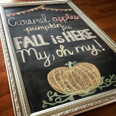 Happily Ever After: DIY Kitchen Chalkboard Fall Chalkboard, Chalkboard Wall Bedroom, Kitchen Chalkboard, Chalk Wall, Chalkboard Lettering, Chalkboard Designs, Chalkboard Paint, Chalkboard Ideas, Chalk Board