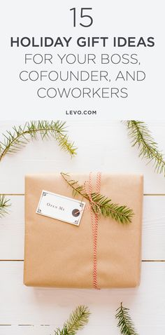 Here are 15 gift ideas, from small to splurge, guaranteed to please even the toughest bosses. @levoleague www.levo.com