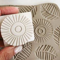 Ceramic Texture, Clay Texture, Clay Projects, Clay Crafts, Terracotta Jewellery Designs, Stencil Printing, Clay Stamps, Stamp Carving, Handmade Stamps
