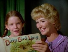Laura & Miss Beadle on little house on the prairie
