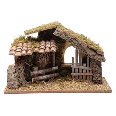 Empty hut with fence cm Christmas Crib Ideas, Christmas Manger, Pallet Christmas Tree, Cool Christmas Trees, Christmas Villages, Beautiful Christmas, Christmas Crafts, Christmas Decorations, Christmas Holiday