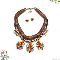 Collar Cafe de Pedreria Ambar. #oparina #statementnecklace #collar #ambar