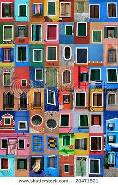 Color inspo: Windows: Burano Island, Italy