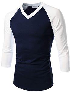 TheLees Prime Unisex Slim Fit Raglan Sleeve V-Neck T-shirts Formal Shirts, Casual Shirts, My Outfit, Shirt Outfit, Mens Cotton T Shirts, Men Shirts, Baseball Tee Shirts, Royal Clothing, Diy Dress