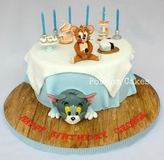 Tom and Jerry Cake by Pompom Cakes