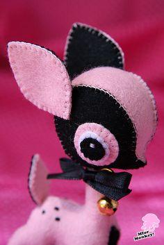 MforM Strawberry Deer Felt Toy by MforMonkey, via Flickr