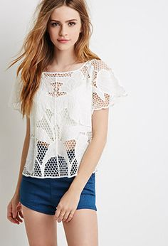 Boxy Crochet Top | Forever21 - 2000098431