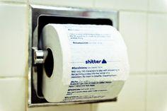 shitter : Votre flux de tweets imprimé sur du papier toilette. (le personnalisable)