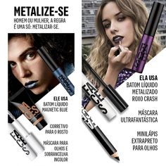 Sugestões de maquiagens metalizadas! - Como Combinar Batom Metalizado na Maquiagem