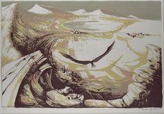 Michael Ayrton, Eagle Landscape, Lithograph, 1957