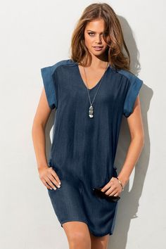 Buy Emerge Chambray Shift | Shop Womens Dresses All Womens Styles at EziBuy NZ