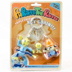 Parappa The Rapper Triple Character Figure Key Chain JAPAN ANIME GAME