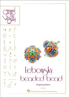 Lebowsky - Beaded Bead Pattern with Superduo - PDF instruction for personal use only by beadsbyvezsuzsi on Etsy https://www.etsy.com/listing/128781665/lebowsky-beaded-bead-pattern-with