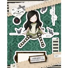 "Gorjuss Urban Stamps 127x165mm (5""X6.5"")-On Top Of The World"